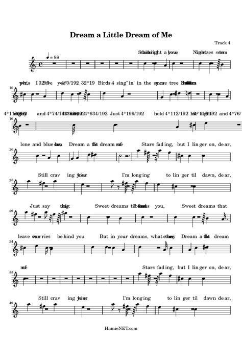 Dream a Little Dream of Me Sheet Music   Dream a Little ...