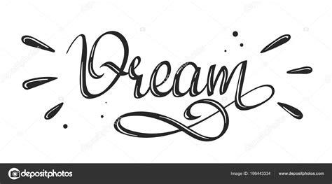 Dream   handwritten lettering word — Stock Vector ...