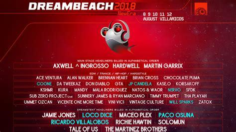 Dreambeach 2018, Loco Dice, Paco Osuna, Nervo y Coone ...