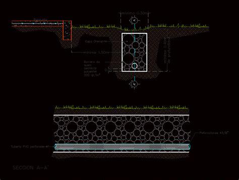Drenaje frances en AutoCAD | Descargar CAD  55.14 KB ...