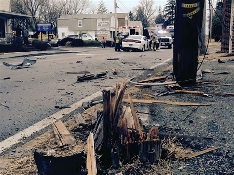 Driver cited after car breaks pole near Prices Corner ...