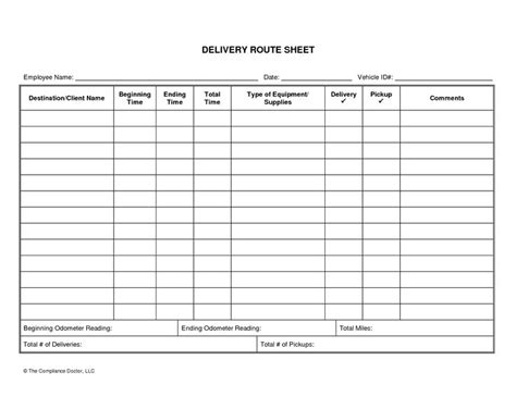 Driver Log Sheet Template | charlotte clergy coalition