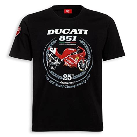 Ducati Men s 25th Anniversary 851 T shirt Small   Buy ...