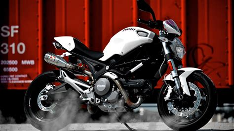 Ducati Monster 696 with Competition Werkes Exhaust ...