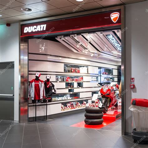 Ducati shop in Bologna airport. – Stock Editorial Photo ...