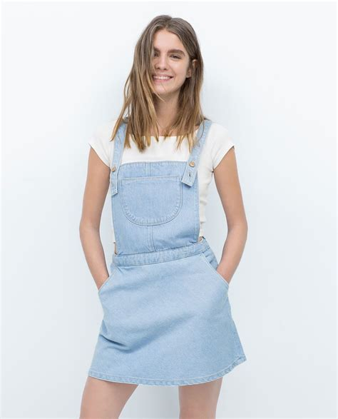 DUNGAREES WITH SKIRT Denim WOMAN | ZARA United States ...