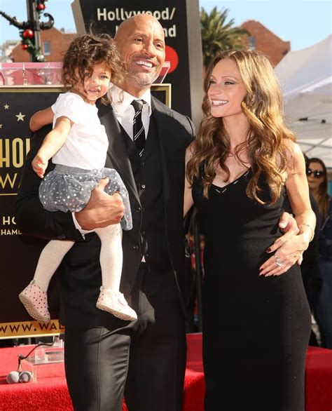 Dwayne Johnson and Family at Hollywood Walk of Fame ...