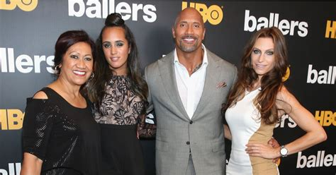 Dwayne Johnson and His Family at Ballers Premiere July ...