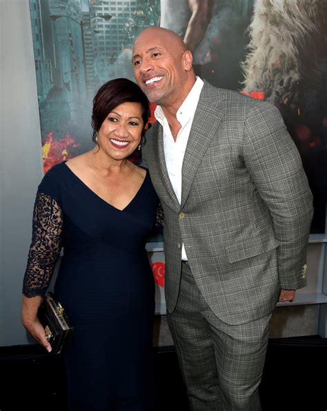 Dwayne Johnson and His Family at Rampage Premiere 2018 ...