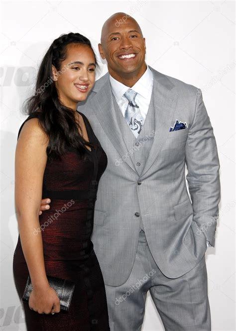 Dwayne Johnson and Simone Alexandra Johnson – Stock ...