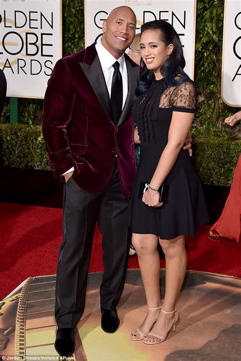 Dwayne Johnson takes daughter Simone to the Golden Globe ...