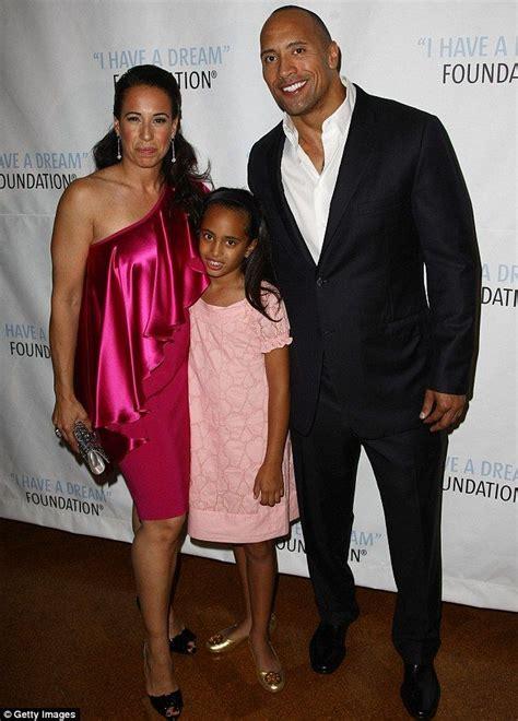 Dwayne 'The Rock' Johnson brought along his daughter ...