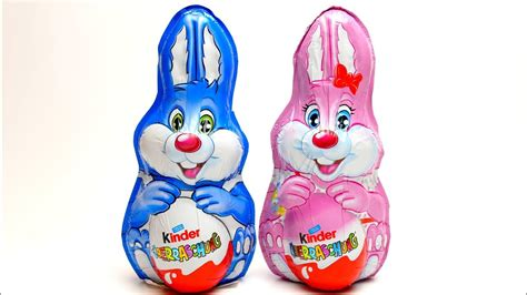 Easter Bunny Kinder Surprise EGG unboxing with Chocolate ...