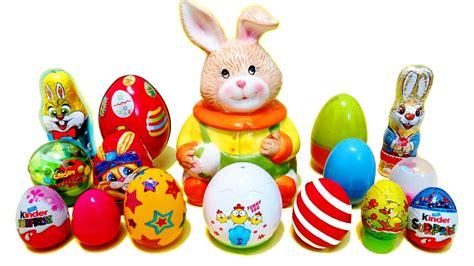 Easter Eggs Surprises   Chocolate Bunny & Kinder surprise ...