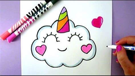 Easy And Cute Drawings How To Draw A Cute Kawaii Unicorn ...