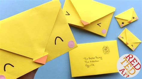 Easy Chick Origami Envelopes   Cute & Easy Easter DIYs ...