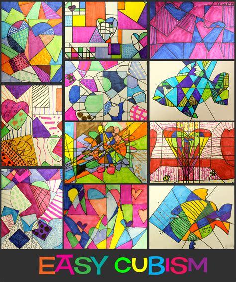 Easy Cubism Art Activities   Deep Space Sparkle