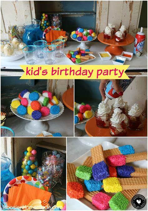 Easy Kid s Birthday Party Ideas   Hoosier Homemade