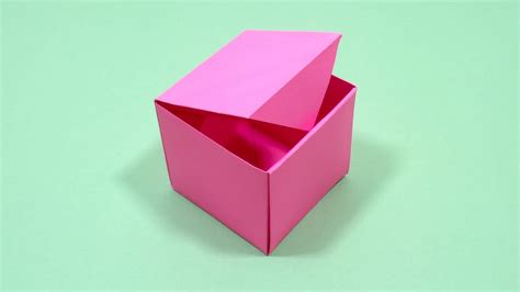 Easy Paper Box   How To Make Origami Box With Color Paper ...