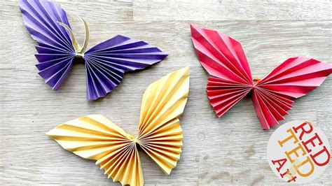 Easy Paper Butterfly Origami   Cute & Easy Butterfly DIY ...