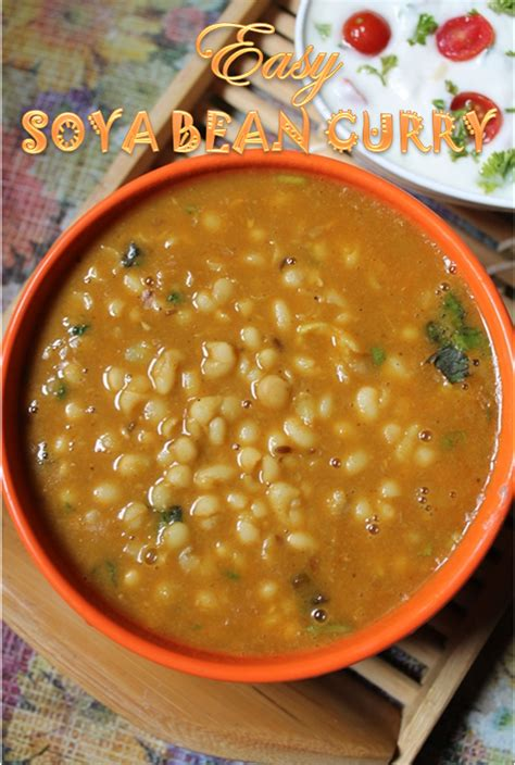 Easy Soya Bean Curry Recipe / Soybean Curry Recipe   Yummy ...