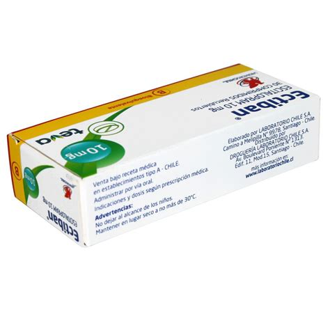 Ectiban Escitalopram 10 mg 30 Comprimidos Recubiertos ...