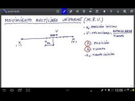 Ecuación del movimiento rectilineo uniforme   YouTube