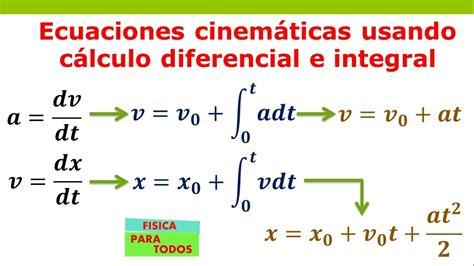 Ecuaciones Cinemáticas usando Cálculo   YouTube