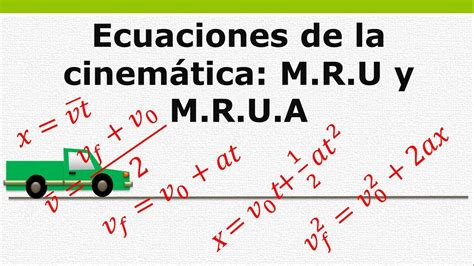 Ecuaciones de la cinemática   movimiento rectilíneo ...
