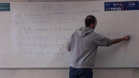 Ecuaciones del movimiento rectilíneo uniforme acelerado ...