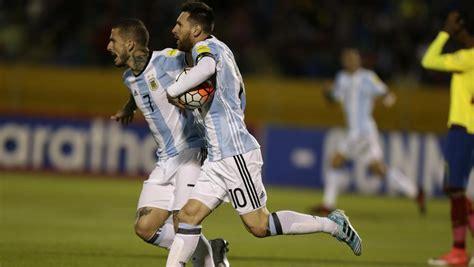 Ecuador   Argentina   Clasificación Mundial Rusia 2018