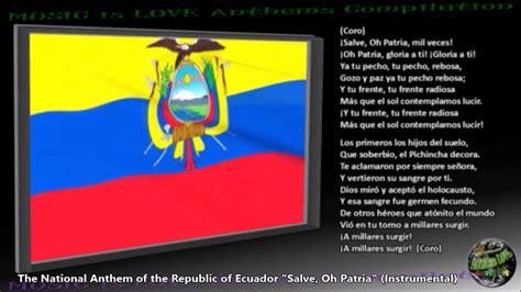 Ecuador National Anthem  Salve, Oh Patria  INSTRUMENTAL ...