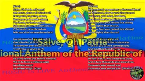 Ecuador National Anthem with music, vocal and lyrics ...