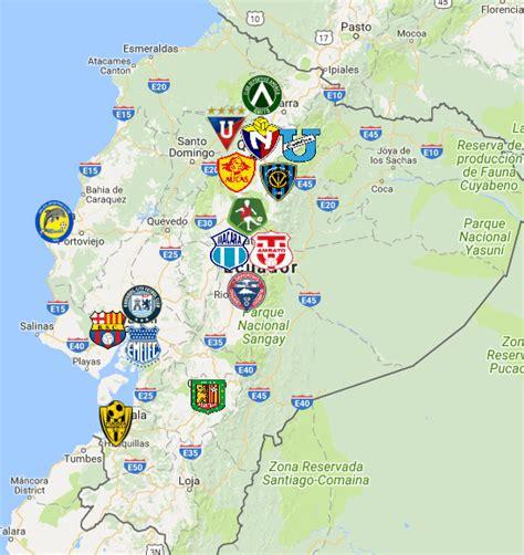 Ecuadorian Serie A Map | Clubs | Logos   Sport League Maps