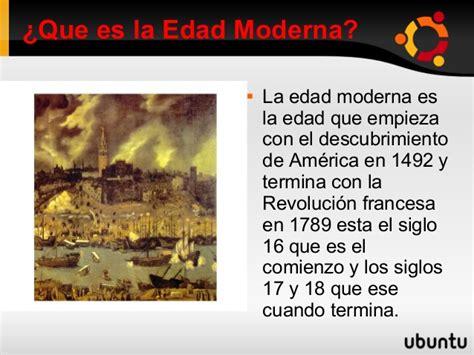 Edad moderna 3.0