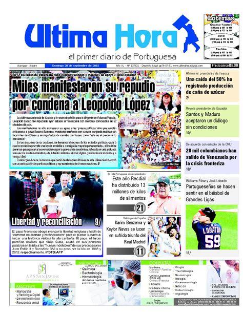 Edicion20 09 2015 by Ultima Hora   El primer diario de ...
