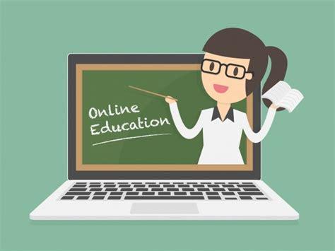 Educación online en portátil | Descargar Vectores gratis
