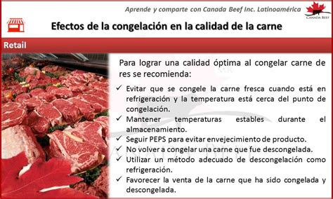 Efectos de la congelación en la calidad de la carne de res ...