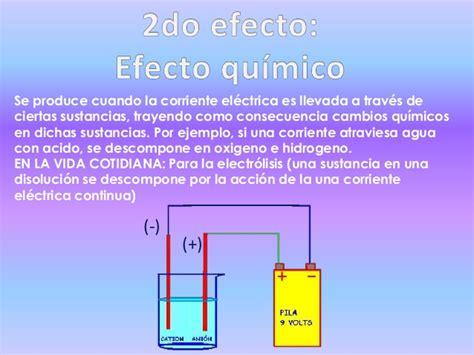 Efectos de la corriente eléctrica