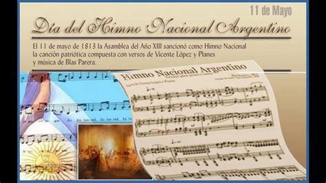 Efemérides en Infochacoonline: 11 de mayo: Día del Himno ...