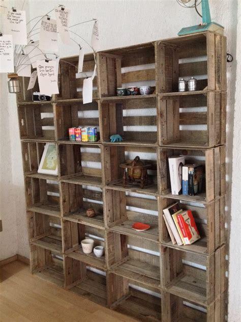 Efra!  Librero de madera recuperada, madera envejecida