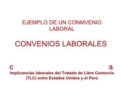Ejemplo Convenios Laborales