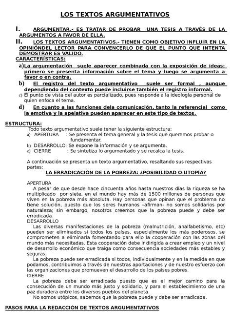 Ejemplo Corto De Un Texto Argumentativo   Ejemplo Sencillo