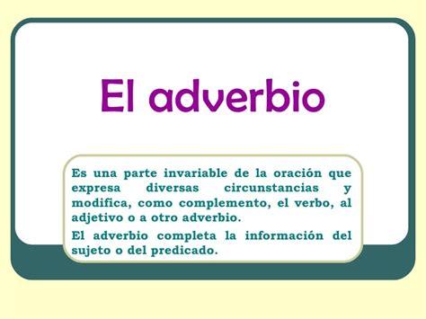 Ejemplo de adverbios   Ejemplos de