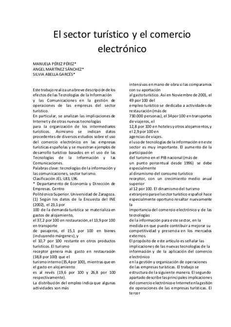 Ejemplo de Artículo científico del sector turístico y el ...