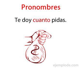 Ejemplo de Pronombres