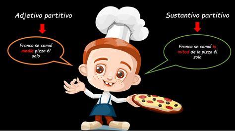 Ejemplos de adjetivos partitivos y sustantivos partitivos