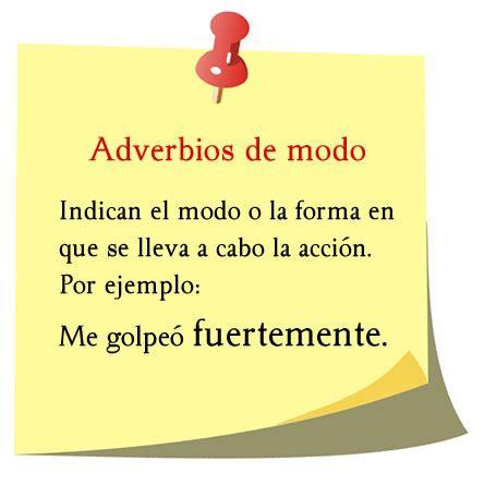 Ejemplos de adverbios de modo