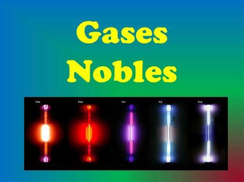 Ejemplos de los gases nobles