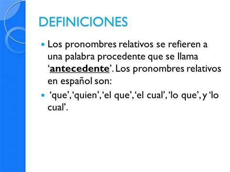 Ejemplos de pronombres relativos